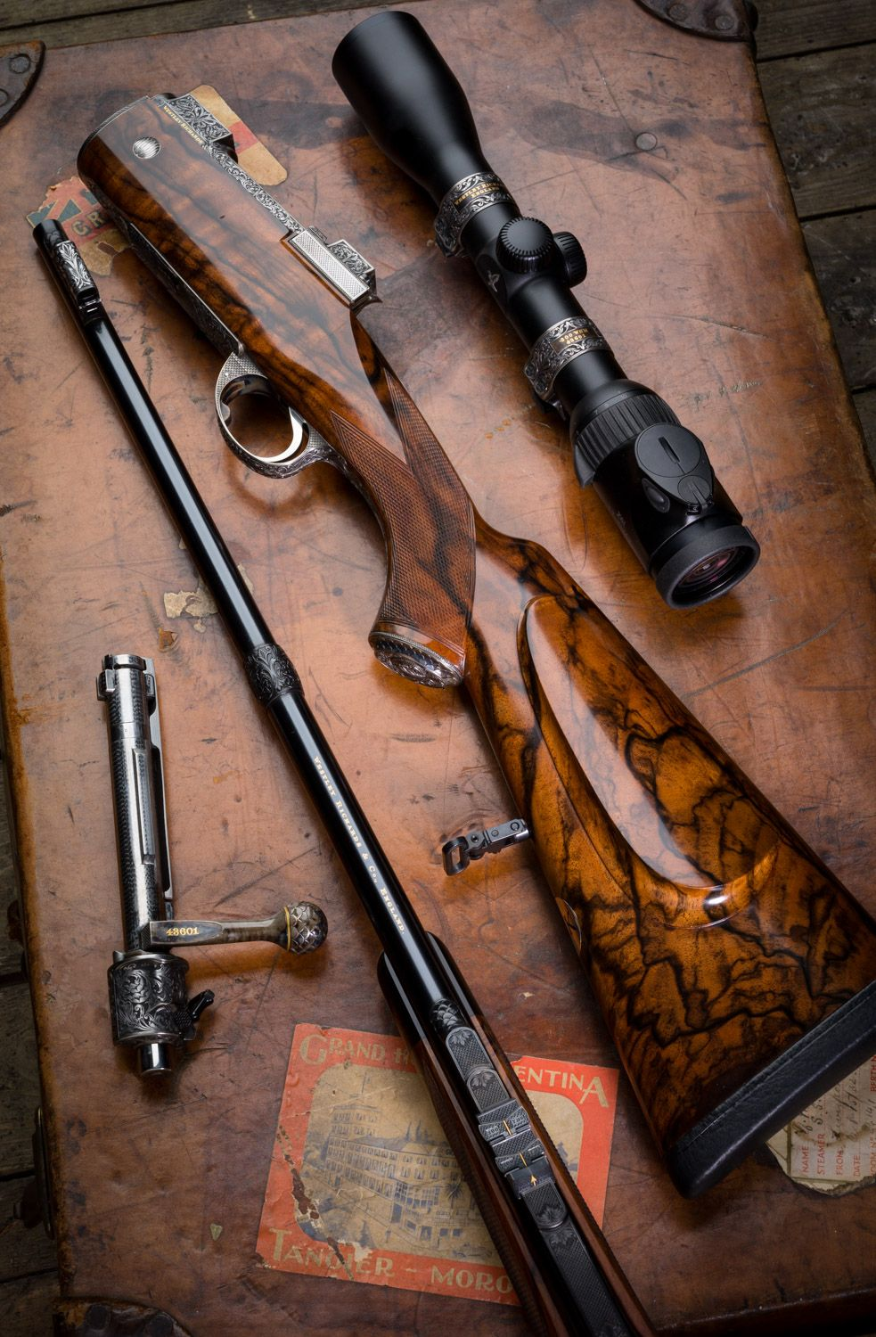Westley Richards Mauser 98 take down bolt action