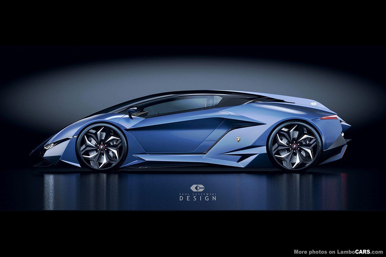 Full Side Profile Of The Lamborghini Resonare Concept Car Lamborghini Concept Lamborghini Blue Lamborghini