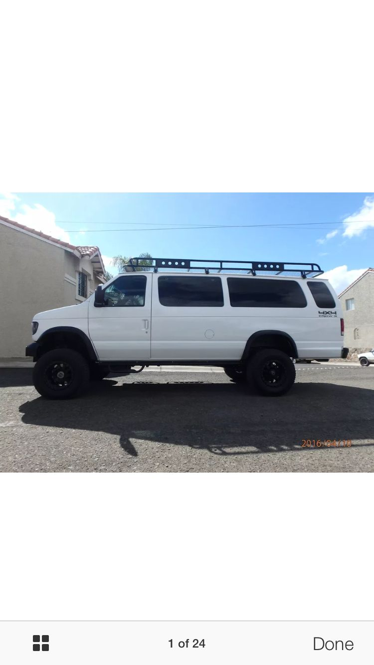 Ford e 350 eb van with aluminess gear all around aluminess roof - Ford E350 Camper Van