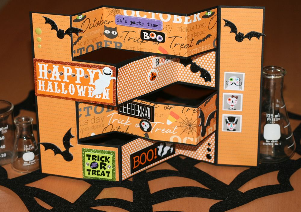 Halloween Card Making Ideas Part - 17: Halloween Accordion Card Tutorial