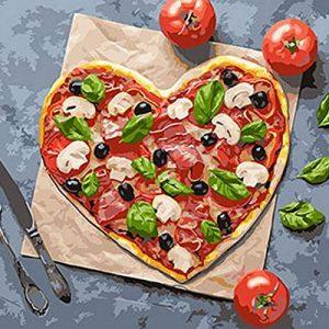 Картина по номерам Пицца с любовью | Пицца, Раскраска по ...