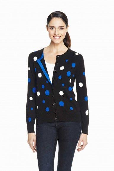 Foxcroft Polka Dot Cardigan | Foxcroft Clothing