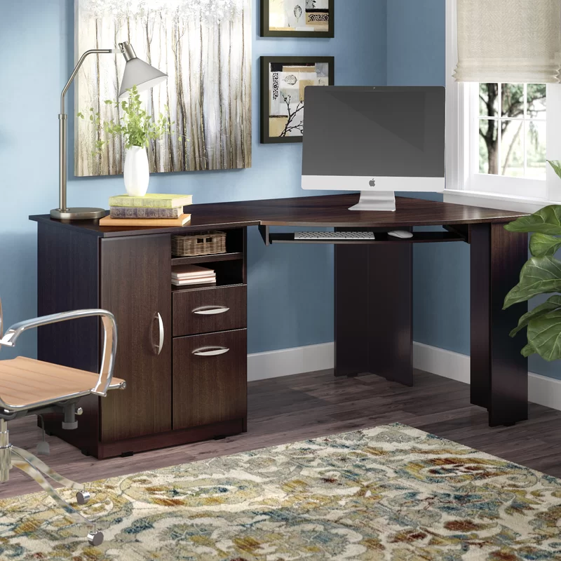 Ponca Corner Desk Corner Desk Wood Corner Desk Corner Writing Desk