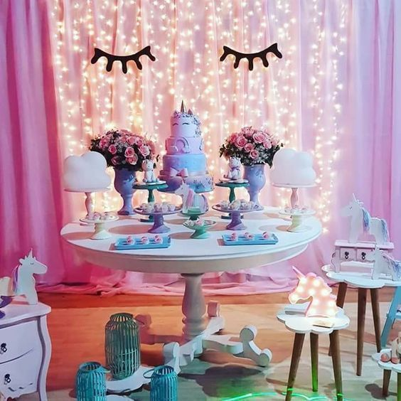 15 a os de unicornio fiesta de xv a os inspirada en for Ideas para decoracion de 15