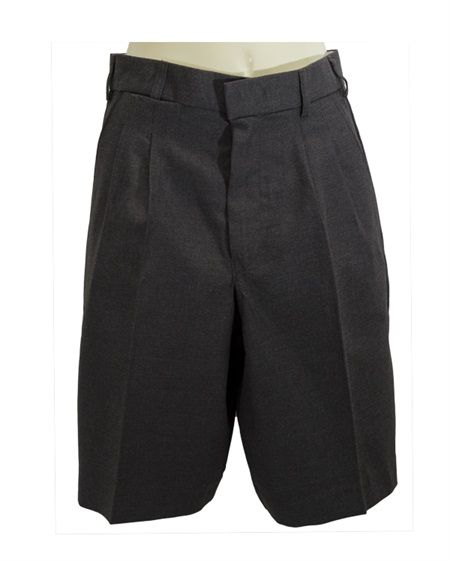 Fully Tailored Poly Viscose Short With Front Pleats And Belt Loops