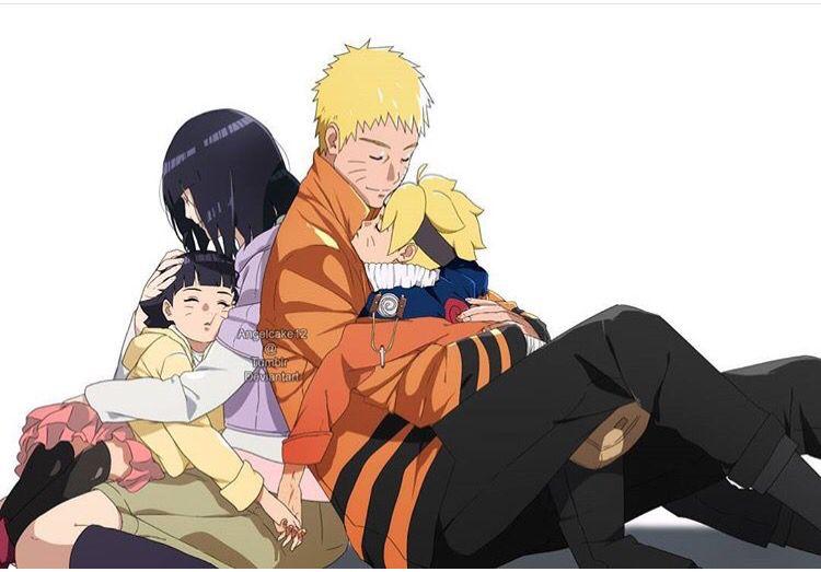 Too Cute Naruto Hinata Boruto Himawari Family Fate