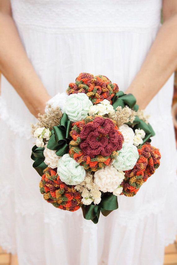 Ramo De Novia Flores Ganchillo Por Fanyortegahms En Etsy Wedding Bouquet