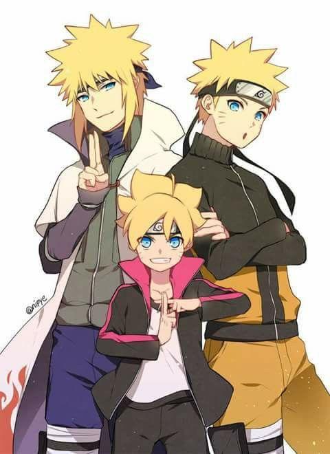 Minato Namikaze Naruto And Boruto Uzumaki