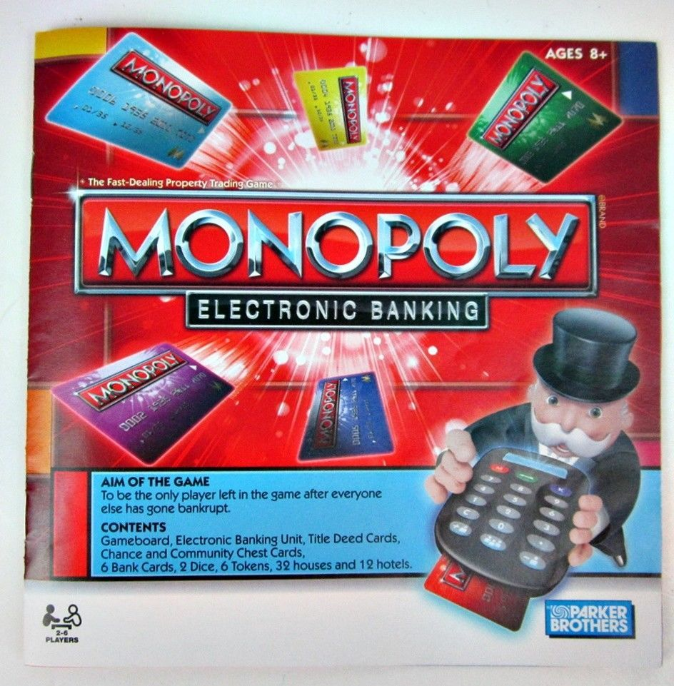 2011 Hasbro Monopoly Electronic Banking Edition Board Game