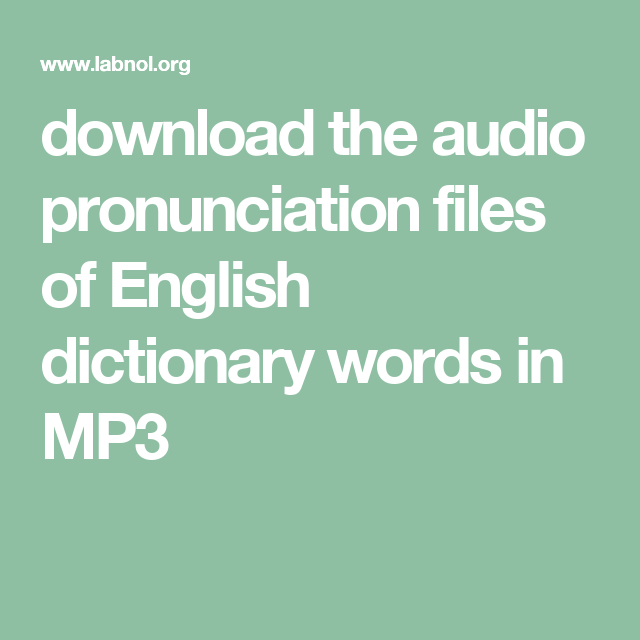 Download the Audio Pronunciation of Words from Google | Educational