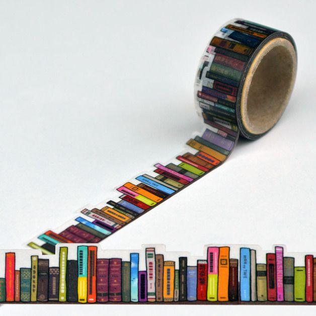 Masking Tape – Round Top Masking Tape (yano design) Bookshelf – a unique product by my-risu on DaWanda