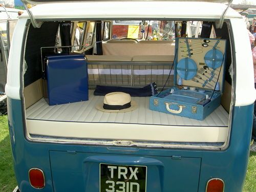 VW CAMPER T2 T1 CAMPING TENT LIFE SIZE VAN RED.