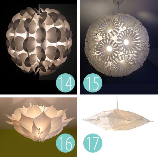 Diy Paper Lampshade Paper Lampshade Creative Lamp Shades Paper