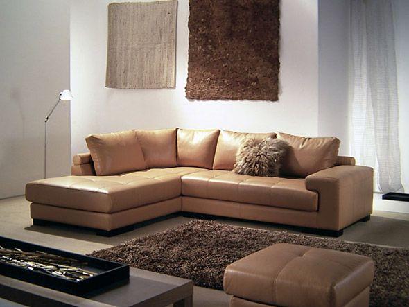 divani con chaise-longue linea classica, rivestimento in pelle o ... - Pelle Dangolo Divano Minimalista