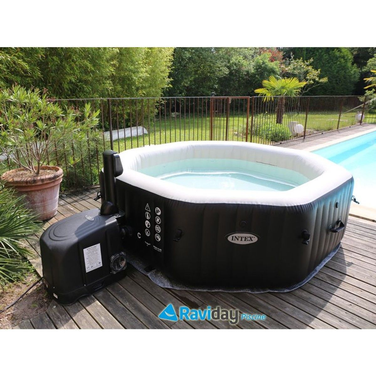 Spa Gonflable Octogonal 4 Personnes Pure Spa Spa Gonflable Spa Gonflable Intex Gonflable