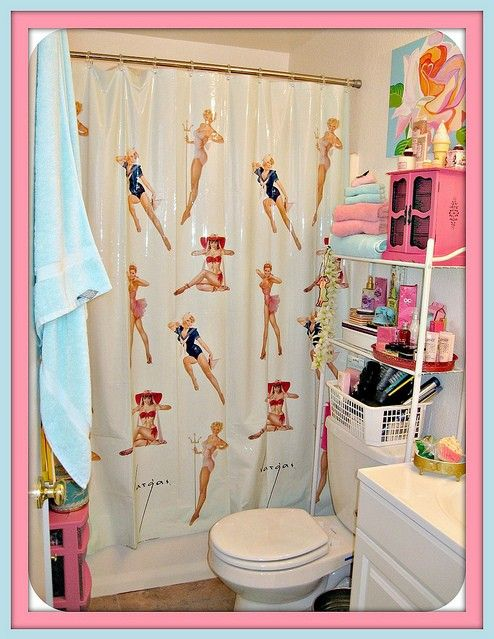 Pin Up Bathroom Decor Love It Save The Pink Bathrooms Mini Ideas