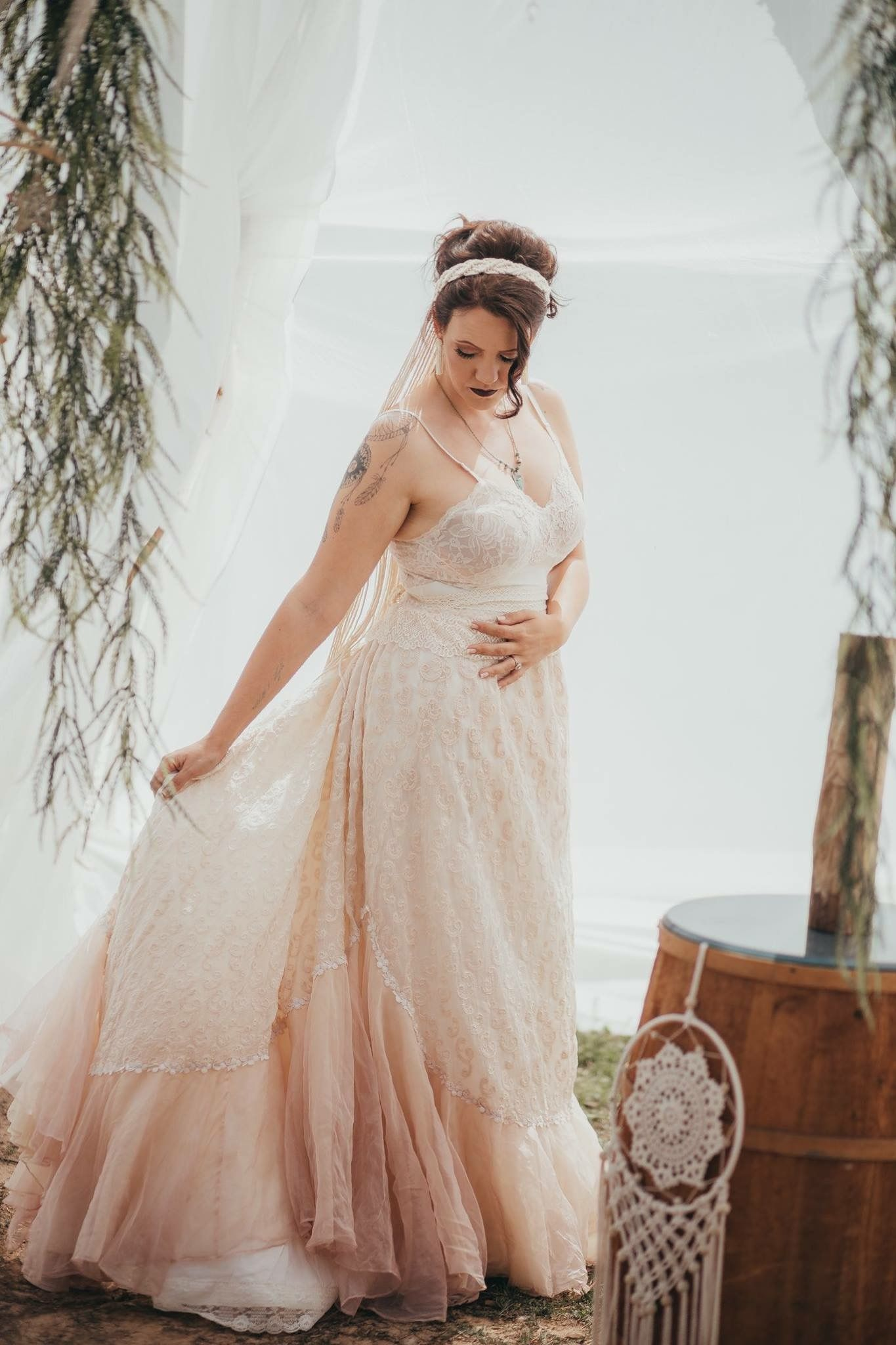 Boho hippie wedding dress  Boho wedding bohemian wedding boho wedding dress boho groom