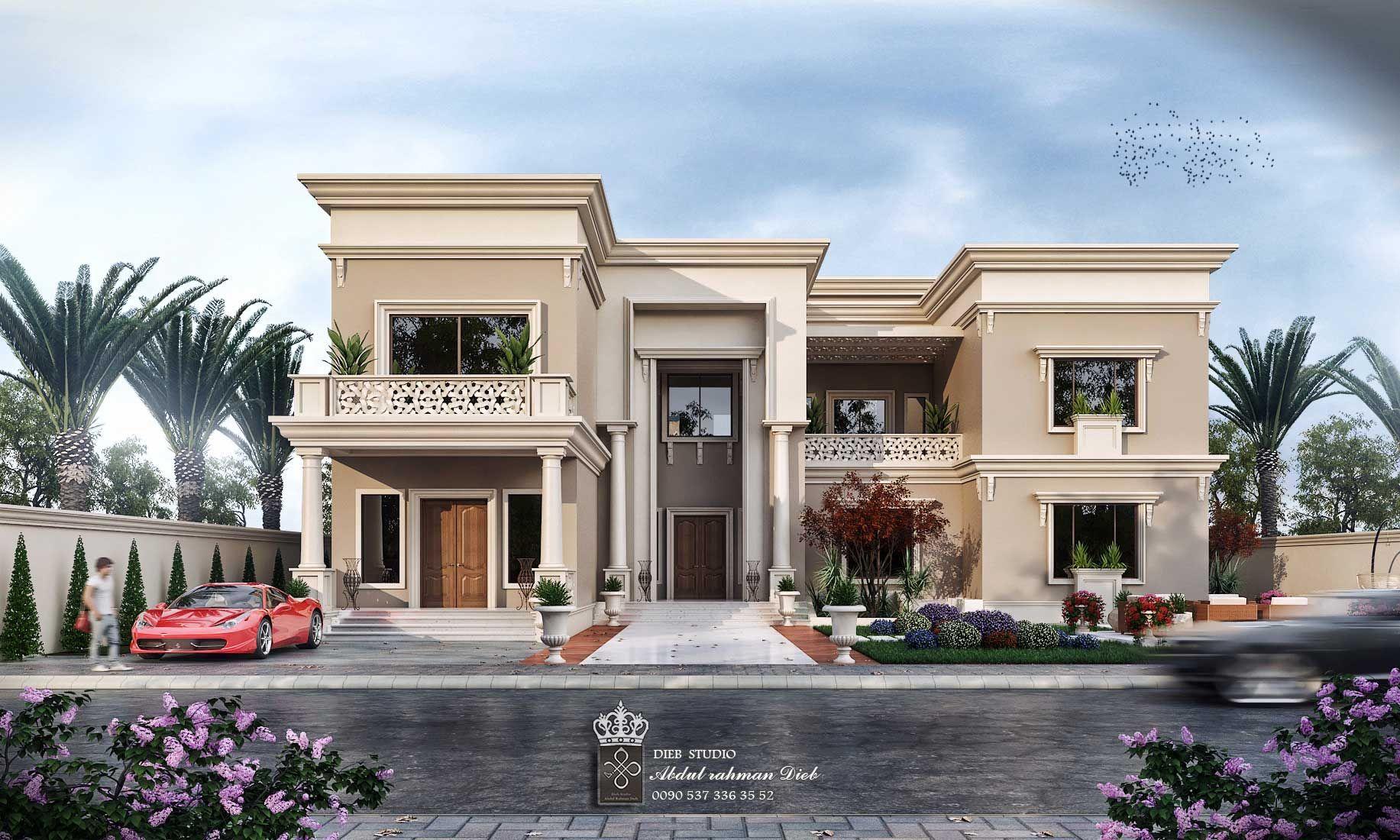 فيلا نيو كلاسيك بسيطة في سلطنة عمان New Classic Villa Oman