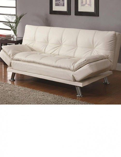 White Leather Futon With Arms Belye Kozhanye Divany Divan Krovat Kozhanye Divany