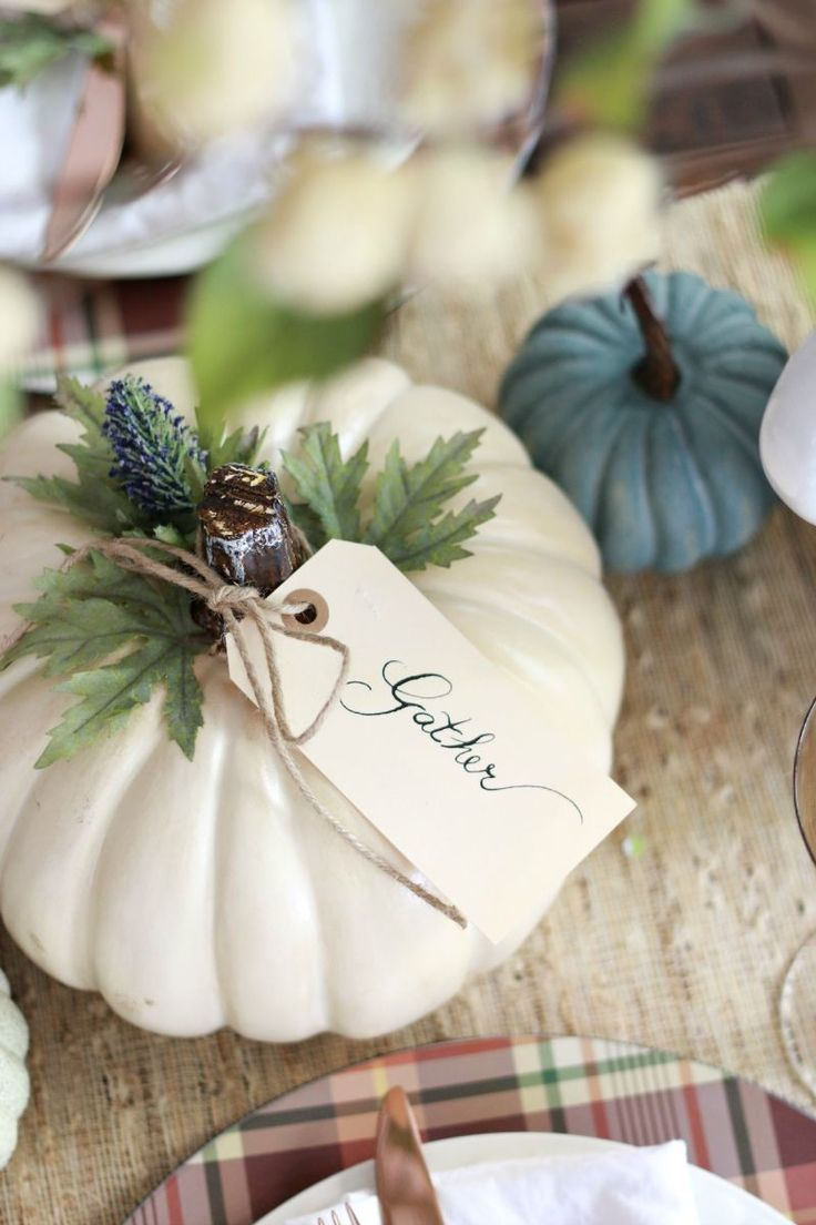 Fall Table & Easy Pumpkin Craft - A Thoughtful Place | Tablescapes + ...