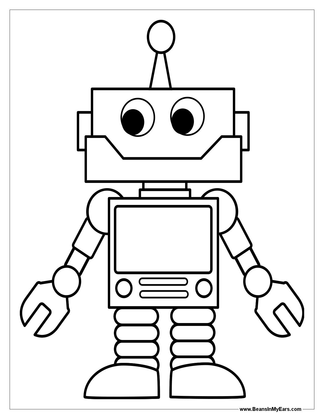 Robot Template For Kids