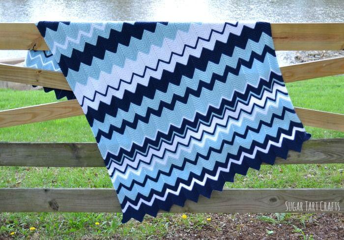 Single Crochet Ripple Blanket Pattern | Crochet | Pinterest | Diy ...