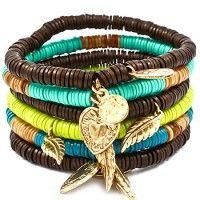 Wooden Charm Bracelet