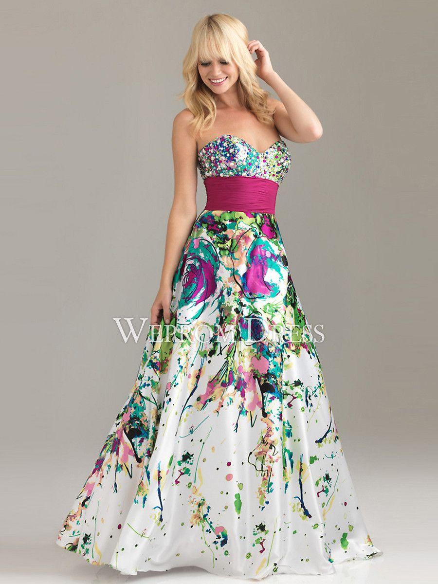 Multicolor Prom Dresses