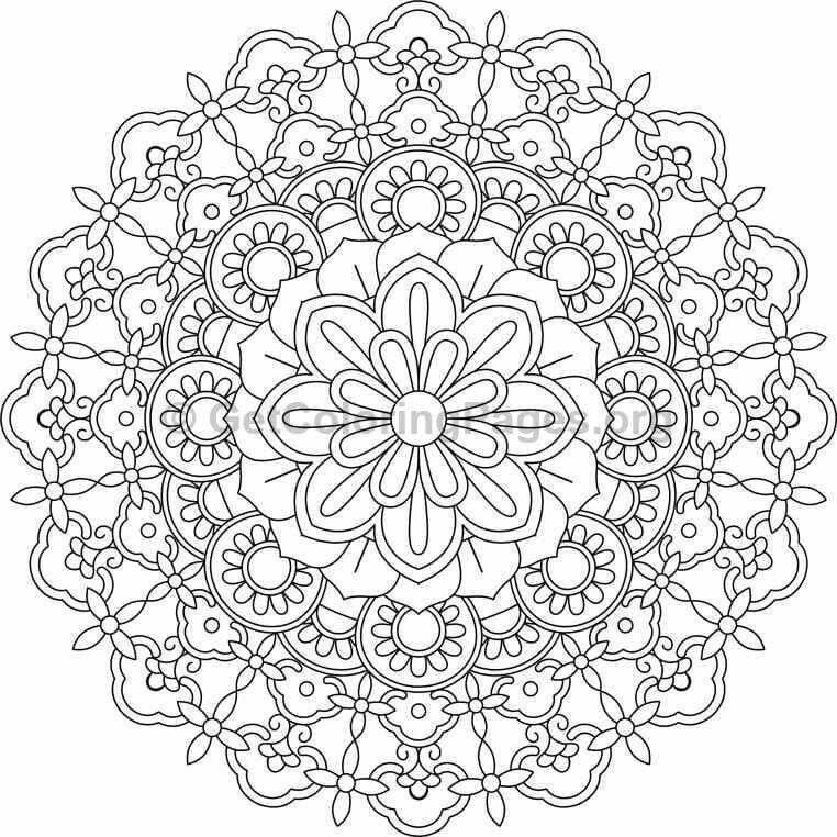 Goede Pin van diane geukens op Mandala's | Kleurplaten, Mandala's, Tekenen CK-64