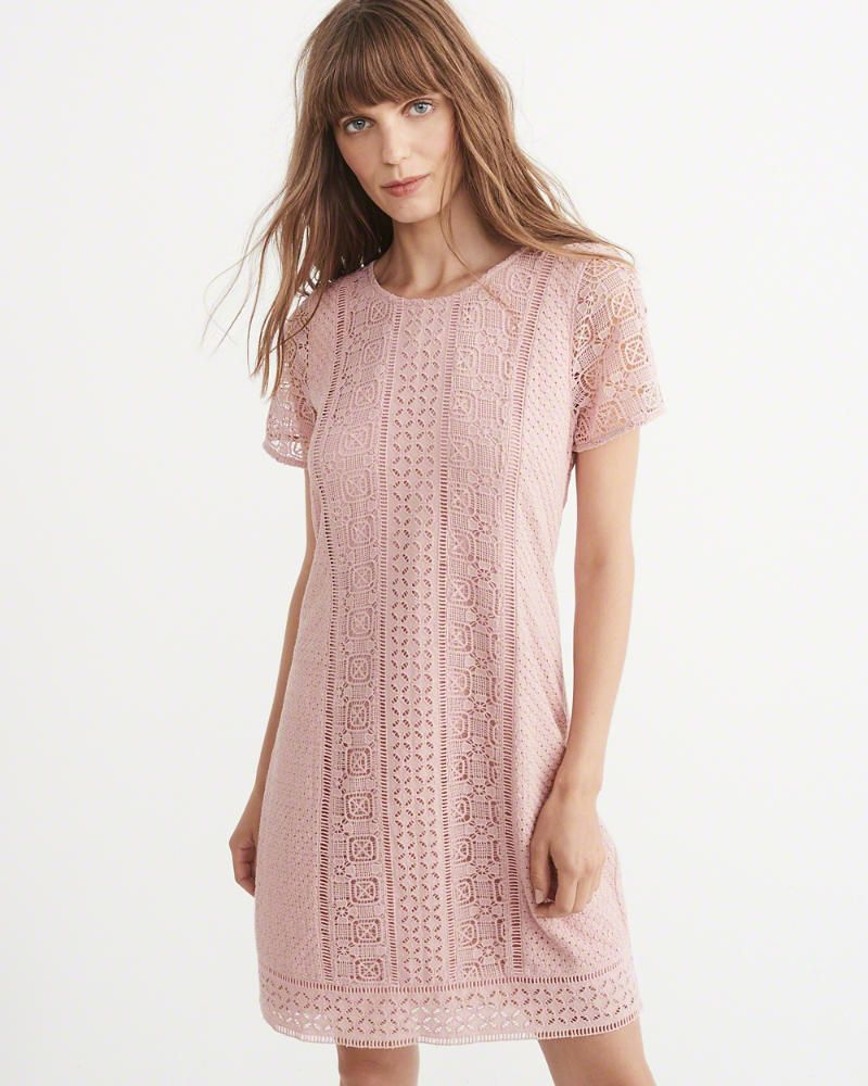 Womens Lace Shift Dress | Womens Dresses & Rompers | Abercrombie.com ...
