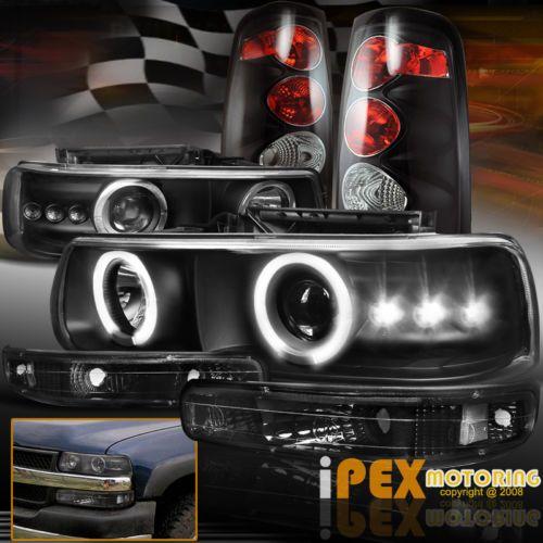 1999 2002 Chevy Silverado 1500 2500 Projector Headlights W Signal Tail Lights In Ebay Motors