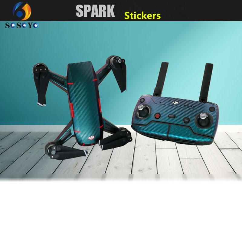 Waterproof Sticker Decal Skin For DJI Spark Drone Body+Battery+Remote Control