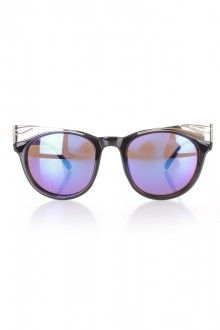 Purple Black Tinted High Polish Accent Sunglasses