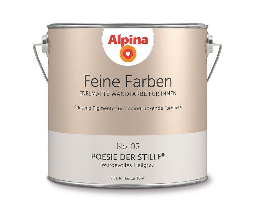 """Alpina Feine Farben """"Leiser Moment"""": Dieser kühle, leicht rauchige ..."""