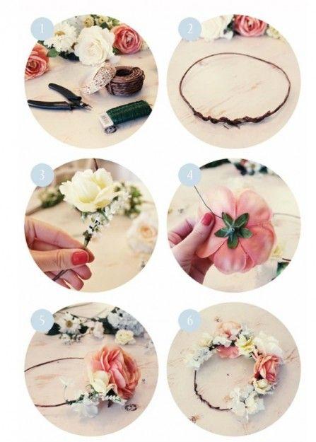 Tuto couronne de fleur communion pinterest - Tuto couronne de fleur ...