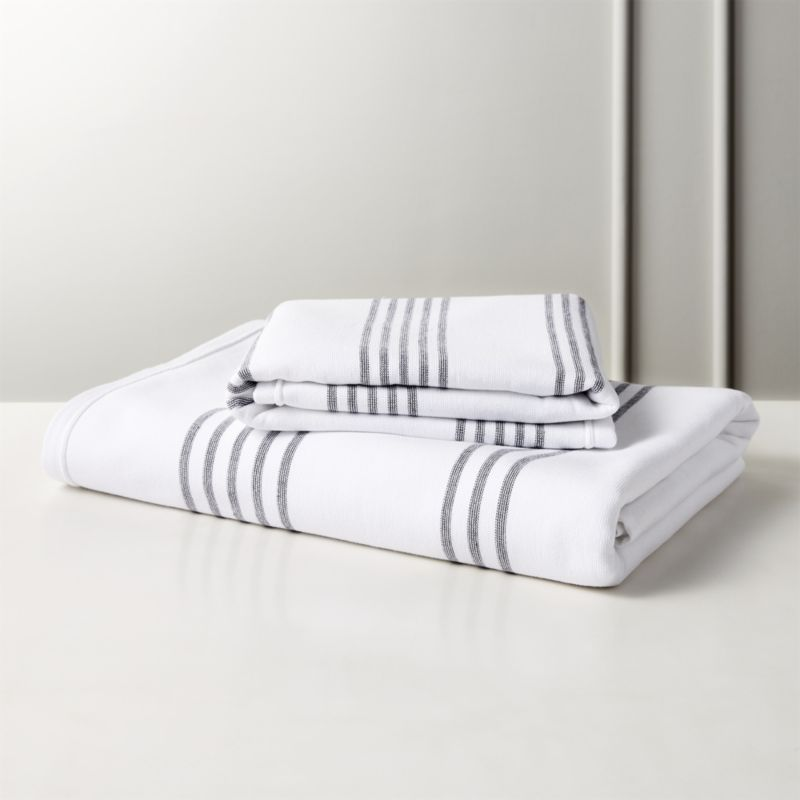 Raya Black And White Striped Bath Towels Striped Bath Towels