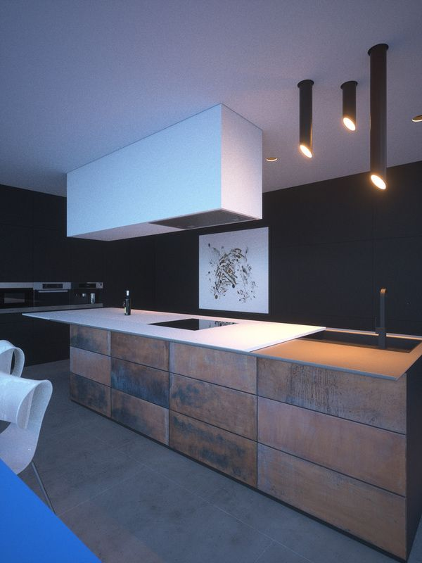 OSB / Chipboard and rust kitchen | House, Rust kitchen ...