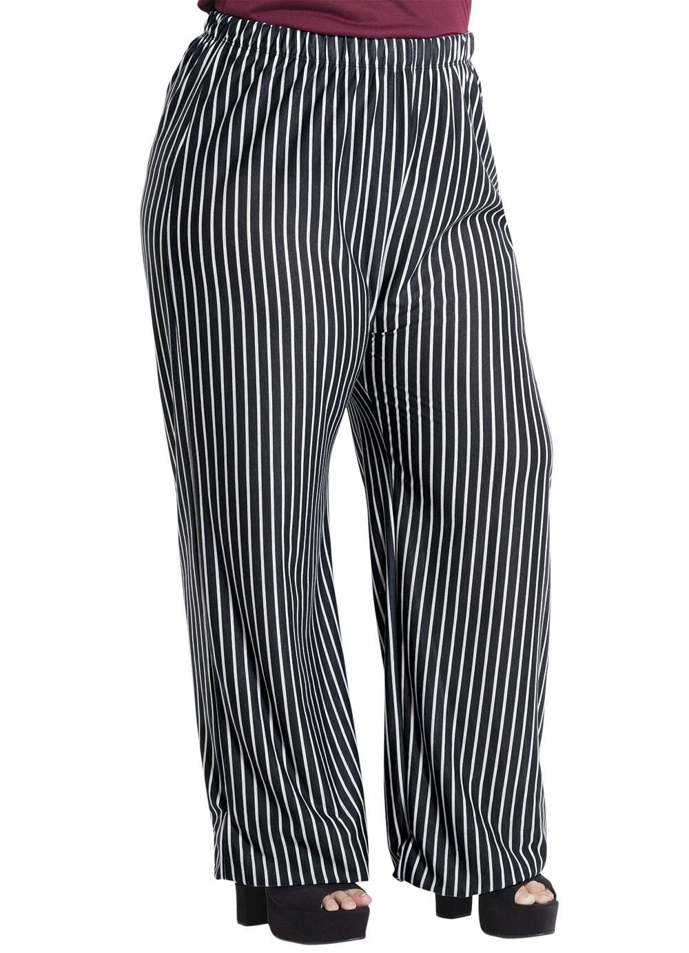 39e281d83 Calça Pantalona Listrada Plus Size Marguerite - Posthaus | Closet ...