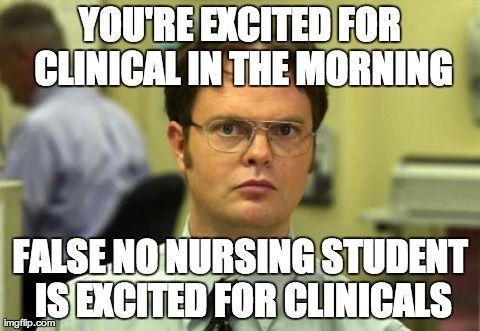 Clinicals. Ugh. #Nurse #NursingStudent http://blog.nclexmastery.com/