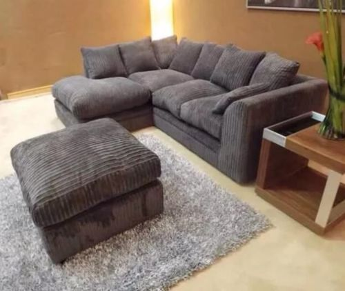 Details About Brand New Dylan Jumbo Cord Corner Sofa Available