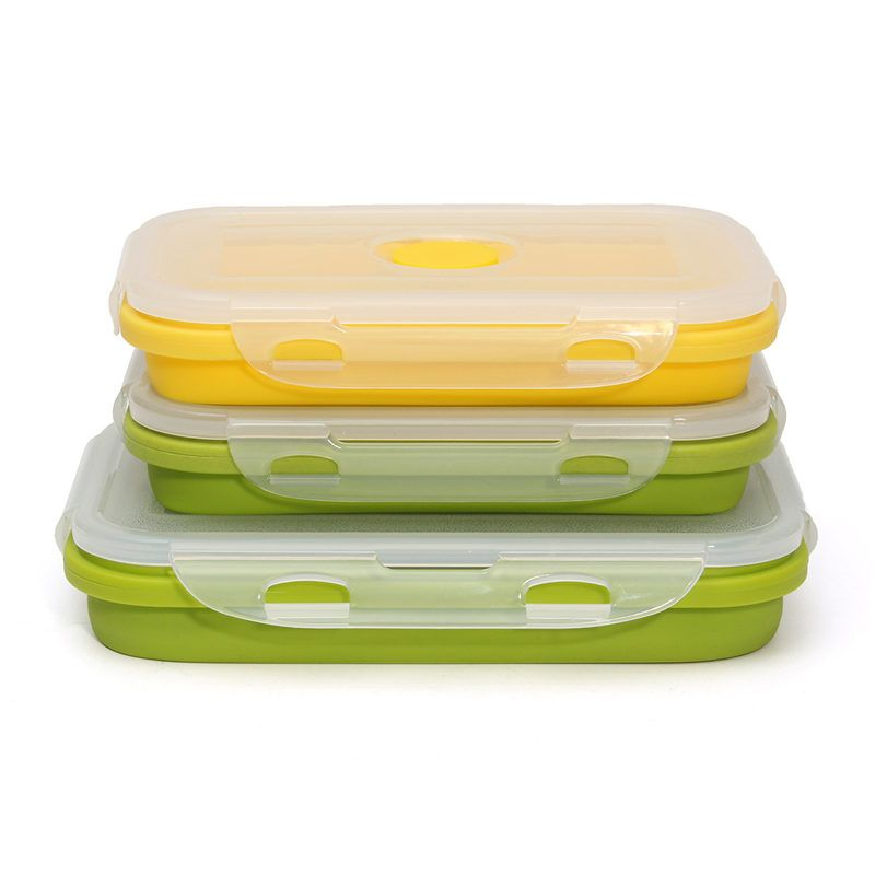 Silicone Collapsible Portable Lunch Box Bowl Bento Boxes Folding