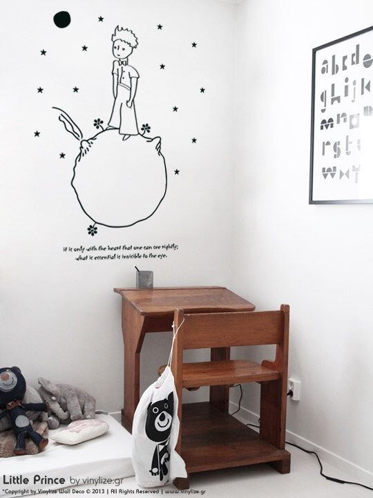Little Prince Wall Sticker Adhesive Vinyl Wall Sticker By - Vinyl wall decal adhesive
