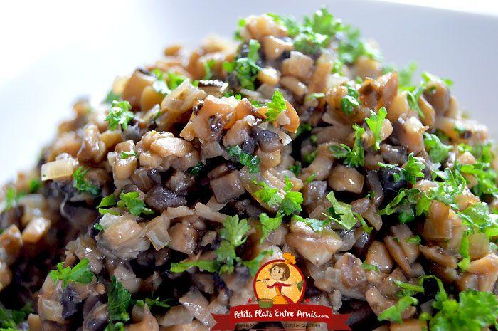 Duxelles de champignons   Champignon, Gastronomie ...
