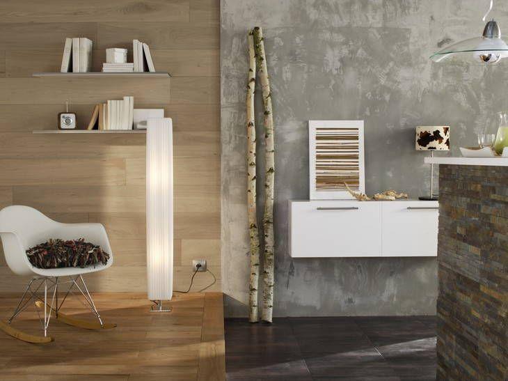 enduit effet b ton lisse bien adapt pour la cuisine associer avec d 39 autres rev tements. Black Bedroom Furniture Sets. Home Design Ideas