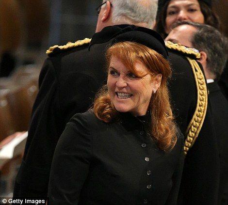 Fergie At Thatcher Funeral Prince William And Kate Sarah Ferguson Princess Diana