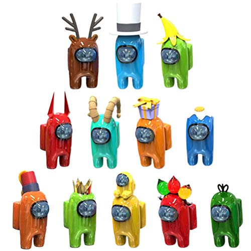 regalo para fiestas colecci/ón de juguetes Juego de 8 figuras de Among Us