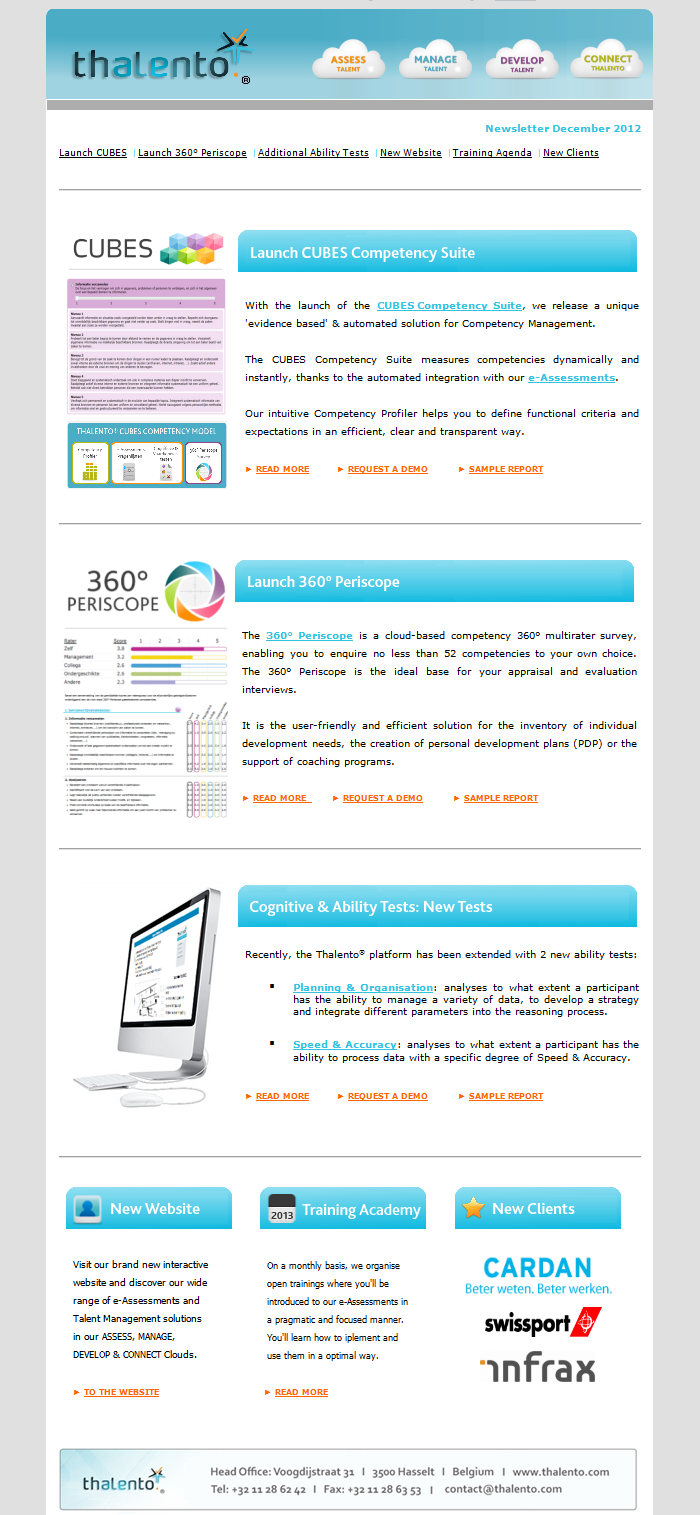 Newsletter Design  Template Example  Thalento Newsletter