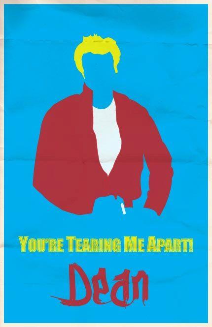 James Dean Print 11x17 - Silver Screen Stars. $15.00, via Etsy.