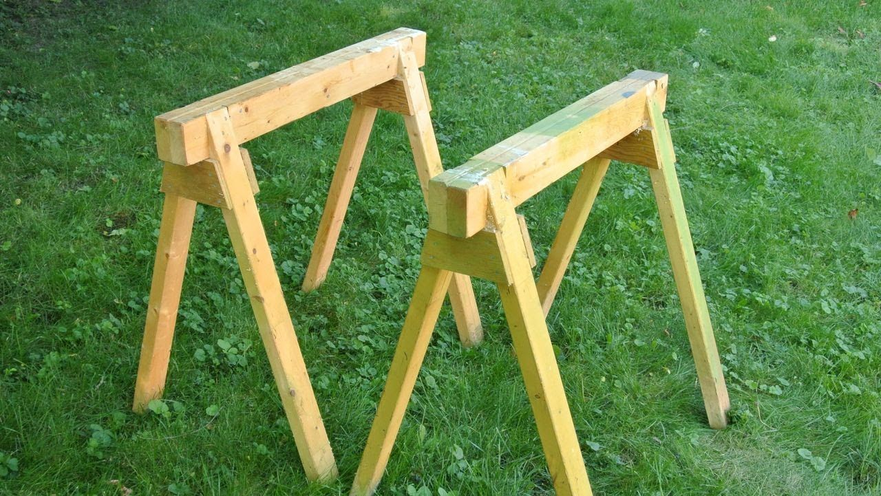 Making Simple Sturdy Sawhorses From 2x4 Lumber Http