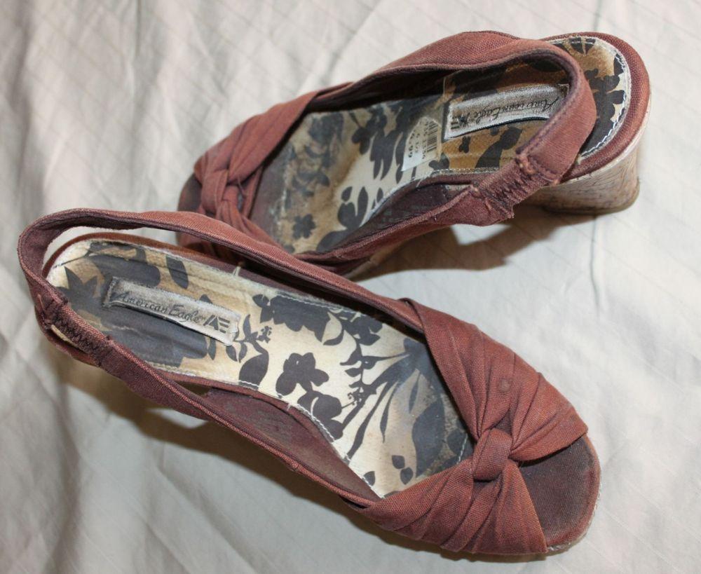 Well Worn Wedges Women S Brown American Eagle High Heel